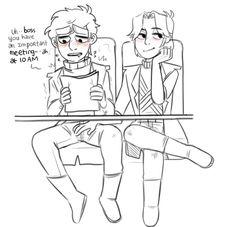Tord:You ok Paul?||*looks under the table and kicks Pat's leg*||Pat:O-O Ok Ok||Tord:Continue Paul