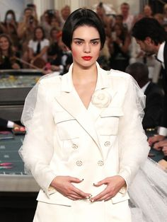 Kendall Jenner Was a Tomboy Bride at Chanel Couture. #celebrity #kendalljenner #couture