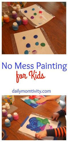 A fun kid's activity that makes NO Mess and they will love it! Makes clean up a…