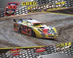 Greg Nippoldt The Legendary 100 Cedar Lake Speedway Late Model Racing, Cedar Lake, Dirt Track, Race Cars, Drag Race Cars, Rally Car