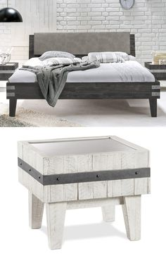 bett pica industrial style pinterest bett bett modern und bequemes bett. Black Bedroom Furniture Sets. Home Design Ideas