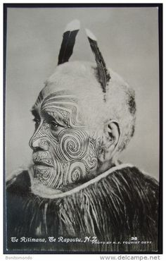 Stock Photo - Historic photo, tattooed tribal chief, Maori, ca. Maori Tattoos, Maori Face Tattoo, Tribal Tattoos, Polynesian People, Polynesian Art, Maori Words, Dolphin Teeth, Maori People, Maori Tattoo Designs