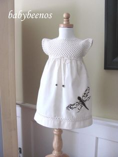 Love the crocheted bodice and applique butterfly!