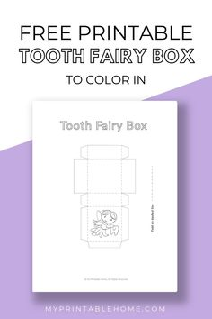 Get creative with this fantatsic craft for kids; A Tooth Fairy Box to Color In! Kids Printables | Kids Craft | Tooth Fairy | Kids DIY | Coloring In