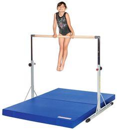 Kids Gymnastics Mini High Bar with a Maple Wood Bar and Stable Frame. Diy Gymnastics Bar, Gymnastics Bars For Home, Types Of Gymnastics, Gymnastics Equipment For Home, Gymnastics Room, Gymnastics Videos, Gymnastics Workout, Gymnastics Outfits, Artistic Gymnastics