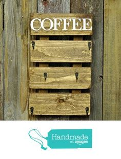 Coffee Cup Rack, Coffee Mug Holder, Coffee Cups, Birthday Gift For Him, Valentines Gifts For Her, Wood Pallet Art, Wood Pallets, Brown Home Decor, Handmade Home Decor
