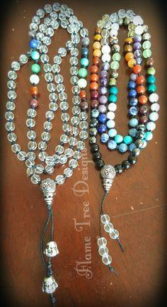 Chakra Gemstone Malas - Handknotted  Visit FB for info :)