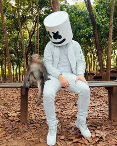 I don't know if I'm more excited to see marshmello or the adorable monkey Bts Wallpaper Desktop, Hacker Wallpaper, Cute Wallpapers, Dj Music, Music Love, Song Artists, Famous Artists, Dj Alan Walker, Marshmallow Pictures