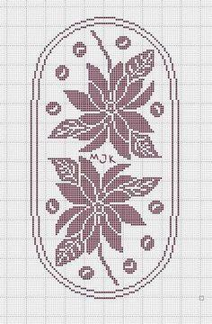 Crochet Thread Patterns, Christmas Crochet Patterns, Crochet Dollies, Crochet Lace, Crochet Carpet, Filet Crochet Charts, Fillet Crochet, Crochet Table Runner, Crochet Winter