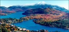 Lake Placid, NY.....you cannot imagine the beautiful fall colors.  Incredible.