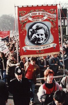 Thatcher breaks through miners' banner, 1984. Photomontage Peter Kennard