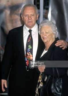 Anthony Hopkins and mother during Anthony Hopkins Footprint Ceremony at Mann's Chinese Theater in Hollywood, California, United States