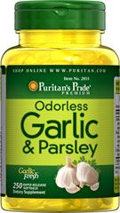 Odorless Garlic & Parsley 500 mg / 100 mg  250 Rapid Release Softgels 500 mg $2.99