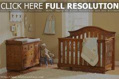 Wood crib tan theme.
