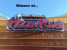 Dinner at Redd Rockett's Pizza Port at Disneyland