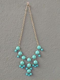 $23--turquoise bubble necklace | Redinfred
