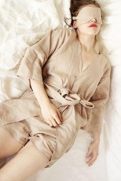 Womens linen robe Kimono sleeve robe Linen clothing Bridesmaid Robe  Bath robe  Linen night gown Linen sleepwear CollectionWN (55.50 EUR) by CollectionWN