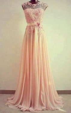 pink appliques tulle lace prom dress, ball gown,