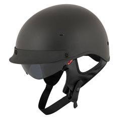 The Street and Steel Oakland Helmet oozes West Coast cool. A shorty-style lid with low profile visor and drop down inner sun shield, the Street & Steel Oakland Helmet has everything you need, and nothing that you don't.