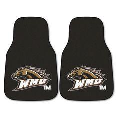 Western Michigan Broncos Black Carpet Floor Mats