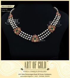Designer Pearl Necklace with 3 strands of pearls accentuated by Antique Kemp Motiffs. Browse our site for more Pearl Jewellery. Gold Jewellery Design, Bead Jewellery, Gemstone Jewelry, Diamond Jewelry, Gold Jewelry, Beaded Jewelry, Pearl Jewelry, Handmade Jewelry, Jewelry Logo