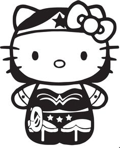 Hello Kitty Wonder Woman Vinyl Decal for Cars, Laptops, iPads, | eBay