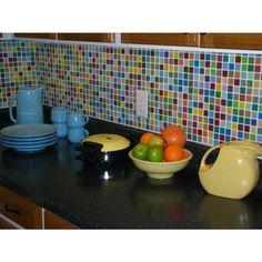 Fruit Platter 1X1 Multi-Colored Polished Glass Tile