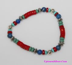 image necklace turquoise red bamboo coral - Google Search
