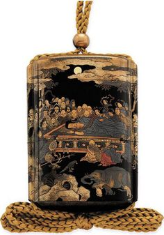 A Four-Case Inro, Signed Koma Koryu and kakihan, Edo Period (19th century) Decorated in very fine iroe-togidashi-e, kirigane and nashiji de...