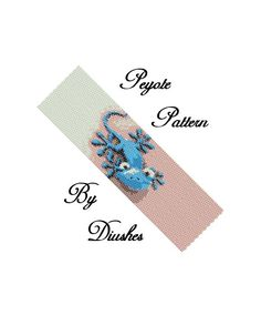 Beaded, beadwork peyote pattern, bead patterns, bead graph - On Sale Peyote Beading pattern Bracelet Blue Lizard. Peyote Beading Patterns, Seed Bead Patterns, Beaded Bracelet Patterns, Loom Beading, Bead Lizard, Bead Loom Designs, Bead Loom Bracelets, Bead Crochet, Beading Tutorials