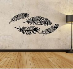 Feathers Tribal feather  Vinyl Wall Decal Sticker Art Decor Bedroom Design Mural birds design art urban by StateOfTheWall on Etsy https://www.etsy.com/listing/221698828/feathers-tribal-feather-vinyl-wall-decal
