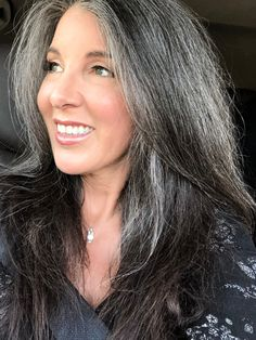 This is me, 3 years dye free. And when I say free I'm mean free from hair dye, and paying $$$ every 5 weeks to have someone pour poison over my head.  Loving the freedom!  Salt and pepper gray hair. Grey hair. Silver hair. White hair. Gray hair don't care. No dye. Dye free. Natural highlights. Aging and going gray gracefully.