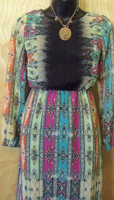 Petticoat alley dress sleeveless paisley maxi