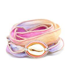 Isla Ibiza Sorbet Zijde Wikkel Armband ♡ available at www. Silk Wrap Bracelets, Light Spring, Sorbet, Beautiful Hands, Ibiza, Belt, Gemstones, Handmade, Accessories