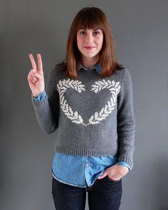 Peace and Love Sweater knitting project by Kiku knits | LoveKnitting