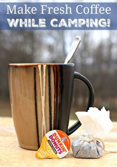 How To Make Fresh Coffee While Camping! Don't go without your favorite coffee while you're out camping this summer! Make your favorite coffee fresh each morning - it's easier than you think! Learn how to prepare the perfect cup of coffee while camping: http://lifesabargain.net/make-fresh-coffee-camping/   #DunkinCreamers | ad