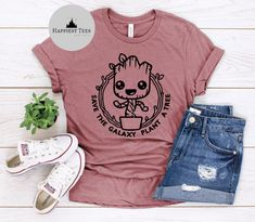 Excited to share the latest addition to my #etsy shop: Groot Save the Galaxy Plant a Tree, Groot Shirt, I am Groot, Guardians of the Galaxy Shirt, Disney Tee, Disney Family, Disney T Shirt, Matching Disney Shirts, Disney Tees, Disney Shirts For Family, Disney Family, Disneyland Outfits, Disney Outfits, Disney Fashion, Marvel Shirt, Cute Shirts