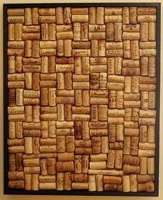 Wine cork board. Someone made one of these for my mom.  I've been collecting corks for about a year now.  Wonder if I have enough to make my own.