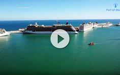 Hasta 5 grandes barcos de cruceros en el puerto de Málaga fueron grabados al mismo timepo usando la tecnología de un drone. No te lo pierdas aquí