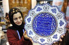 Iran, Isfahan Enamel (Minakari) Handicrafts art