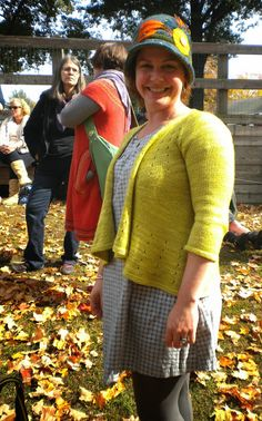 Dress (is that a Kathy dress?) + Cardigan + felted cloche.  My favorite Rhinebeck outfit.