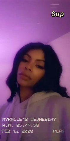 About Snapchat, Snap Snapchat, Snapchat Video, Pretty Black Girls, Purple Aesthetic, Makeup Inspo, Black Girl Magic, Baddies, Life Is Good