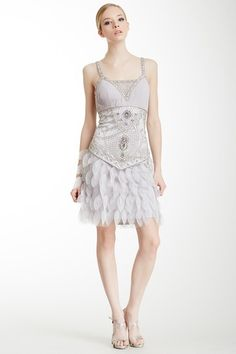 Pleated Contrast Shift Dress by Sue Wong on @HauteLook