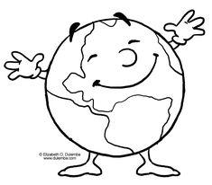 La Tierra feliz - Dibujalia - Dibujos para colorear - Eventos ...