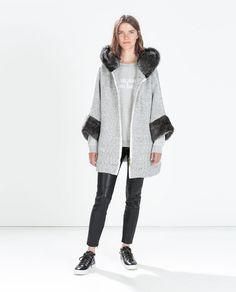 FUR JACKET WITH HOOD from Zara Hooded Wool Coat 9d75769e4