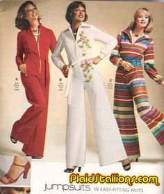 Plaid Stallions : Rambling and Reflections on '70s pop culture: Bring Back the Jumpsuit!