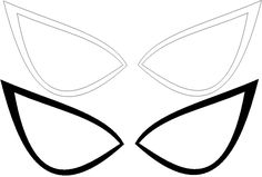 spiderman+eyes+template | Ultimate Spider-man eyes lines