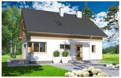 Projekt domu Jantar MDM wersja A paliwo stałe - Studio, Exterior Design, Interior Inspiration, House Plans, Garage Doors, Outdoor Decor, Home Decor, Dining, Projects