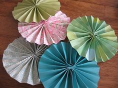 dPaper Fan and Doilie Spring Garland | Blue Cricket Design
