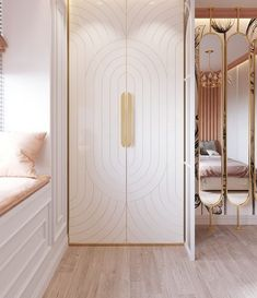 Wall Wardrobe Design, Wardrobe Door Designs, Wardrobe Doors, Closet Designs, Bedroom Bed Design, Bedroom Ideas, Bedroom Decor, Cupboards, Cabinets